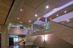 Wood Linear by Hunter Douglas. Erasmus Universiteit. Architect: 1970 Elffers, van der Heyden en Hoogeveen