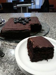 Torta de remolacha y chocolate.