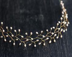 Haarschmuck & Kopfputz - Perle Hochzeit Haarschmuck, Brautstirnband - ein Designerstück von Arsiart bei DaWanda