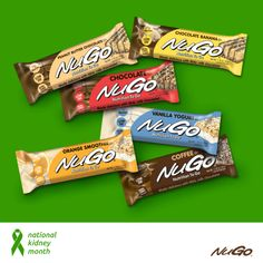 March is National #KidneyMonth. For a high protein, low phosphorous & low potassium snack, you'll love NuGo Family.