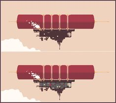Title: Collos. A Bloody Blimp. Pixel Artist: KitKatFresse