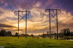 https://flic.kr/p/DEL1KP   Power line   Sunset at Bethany Lake Park.  I usually avoid the power line poles in landscapes but in the case of this park they are everywhere, so I embraced them with a beautiful sunset :-D. This park is a very popular location near my home where you have multiple activities to do: community gardens, walk or run in several trails, ride your bike, fishing, bird watching or have a picnic.  My kids love to go there and watch the ducks and geese.
