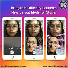 Instagram has this week officially launched its new Layout mode for Stories, which provides a range of grid display styles for still images within a single frame.  #instagram #instagramupdate #InstagramStories #socialmediamarketing #graphicdesign #TrendingNews #DigitalMarketing