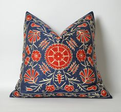 gift for her blue floral pillow mothers day gift for by pillowme