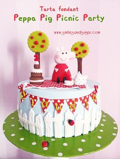 Tarta fondant Peppa Pig Picnic Party
