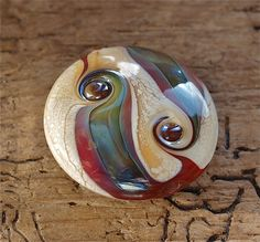 Glass Organic Lampwork Focal Bead Handmade in by thetartantrout