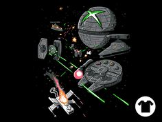 Console Wars shirt star wars Xbox one 360 Playstation wii