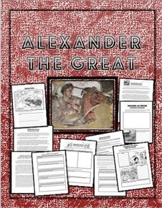 There are a wide range of resources and worksheets of Alexander the Great in this packet.Here is what you get:1. A map activity about Alexander the Greats empire2. Short one page read about Alexander the Great.3. A graphic organizer for Alexander the Great to determine if he was a Hero or Villain with questions.4.