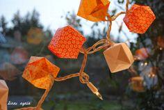 valentine origami box lighted garland 6.