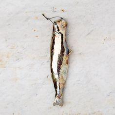 Handmade Ceramic Metallic Herring Fish from k colette i