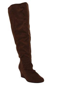 d439757ee64a Molly Brown Suede Over-the-Knee Wedge Boot (Wide Width)  29.99. Flache  BootiesStiefel mit blumenStiefelettenSchuh ...