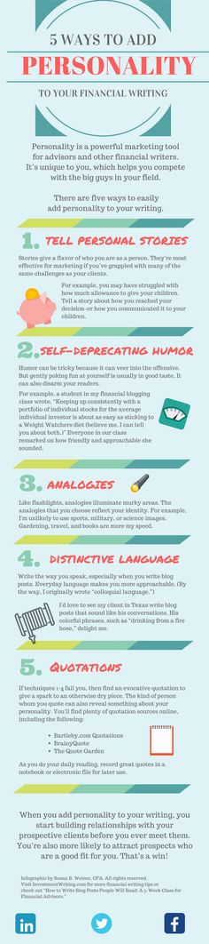 Infographic 5 ways to add personality to your financial writiing