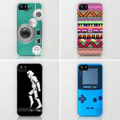 Society6 iPhone 5 cases. So colorful!