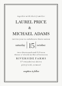 Classic Black Tie Wedding Invitations from Walmart Stationery