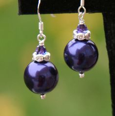 Glass Pearls done in  Purple DeSIGNeR Earrings Glass by chuckhljal, $20.00