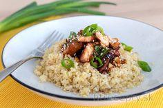 Losos na Teriyaki omáčke s bulgurom Cooking Recipes, Healthy Recipes, Fried Rice, Tofu, Good Food, Food And Drink, Vegan, Ethnic Recipes, Bulgur