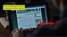John is writting his blog... Sherlock s4e1