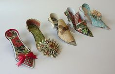 Sizzix ballroom slippers idea with these dies. Available at cutathome.com