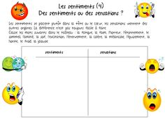 French Teacher, Coaching, Les Sentiments, Expressions, French Language, Feelings, Attention, School Ideas, Classroom Ideas