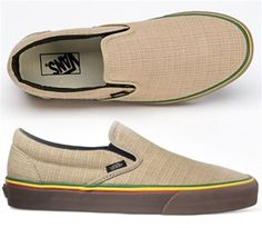 Vans Classic Slip-Ons Irie Incense (Hemp) Shoes