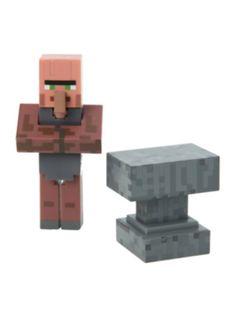 Minecraft Blacksmith Villager Figure Hot Topic Blacksmithing Minecraft merchandise Minecraft