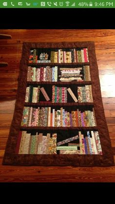 Bookshelf Quilt- made mostly with fabric scraps!