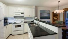 Whistler Rental Arrowhead Point #5 Upgraded Kitchen with Granite Countertops @whistlrplatinum #vacation #rental #whistler #travel