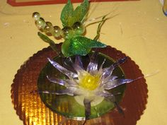 dragonfly and fantasy flower - I made this at my first ever blown and pulled sugar class i took in NY city