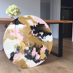 pink, white, black and gold, interior inspiration. Please choose cruelty free vegan