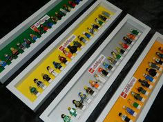 This listing is for ONE handmade Display case.  --Display your minifigure series they way they are suppose to be ,with their matching series
