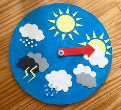 Wetterstation für Kinder Toddler Learning Activities, Craft Activities For Kids, Preschool Activities, Teaching Kids, Crafts For Kids, Weather For Kids, Preschool Weather, Weather Crafts, Weather Unit