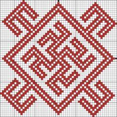 Оберег вышивка схема Одолень-трава