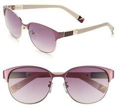 Marsala Pantone Color of the Year via Eyedolatry Furla 58mm Sunglasses