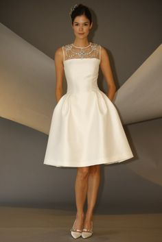 Carolina Herrera Bridal Fall 2014 but this would be lovely for a really formal party. Wow! I am in love with this dress!