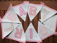 Baby girl bunting. Looks fantastic when up.
