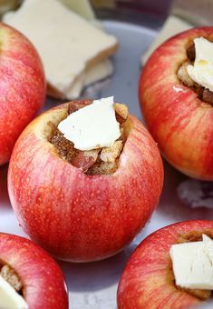 Instant Pot Baked Apples - a favorite fall treat that I rarely get in Florida because it's too hot to turn on the oven until January. Instant Pot Baked Apples are a must-try Fall dessert that only take 3 minutes until cooked to perfection! Apple Recipes, Crockpot Recipes, Baking Recipes, Healthy Recipes, Pilsbury Recipes, Crowd Recipes, Dinner Crockpot, Jalapeno Recipes, Healthy Dishes