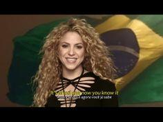 Shakira - Dare La La La (Brazil 2014) (Official Video HD) Legendado + Ly...