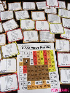 Place value puzzle that reveals a turkey perfect for Thanksgiving math centers - also comes in numbers only version for number sense!