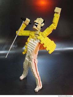 Lego Freddie Mercury - Click image to find more Other Pinterest pins