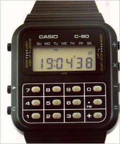 Casio wrist calculator