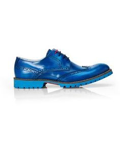 KENNETH COLE REACTION Blue Rugged Wingtip Oxfords