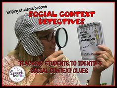 SLPs can address social inference skills in speech therapy with visuals and interactive lessons. Five context clues are outlined. Social Skills Lessons, Teaching Social Skills, Student Teaching, Perspective Taking, Context Clues, Social Thinking, Lessons For Kids, Therapy Ideas, Speech Therapy
