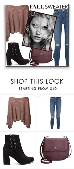 """Fall Sweater"" by shadow13goddess101 ❤ liked on Polyvore featuring Frame Denim, Kate Spade and fallsweaters"
