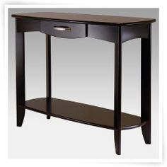 Transitional Wood Rectangle Stylish Console Table ( 1 Drawer And 1 Lower  Shel ) X X Inches   Espresso