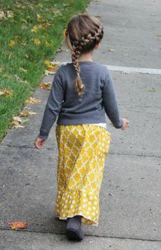 long little girls skirt