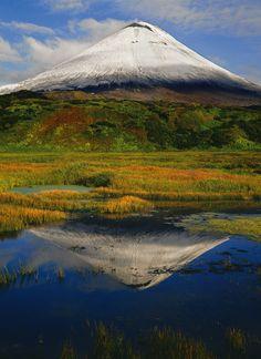 Karymsky volcano, Kamchatka, Siberia, Russia.