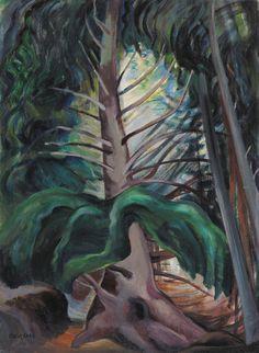 Emily Carr, Canadian Group of Seven Canadian Painters, Canadian Artists, Emily Carr Paintings, Group Of Seven Paintings, Tom Thomson, Simple Art, Artist Art, Art Techniques, Art World