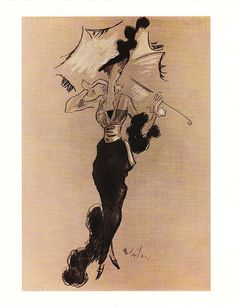 Black & White Ascot Costume Cecil Beaton's original costume sketch for My Fair Lady
