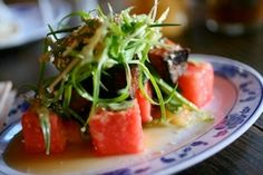 Crispy Pork Belly and Watermelon Salad from Fatty Crab.