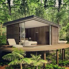 I want a place like this! Outdoor Spaces, Outdoor Living, Outdoor Decor, Cabin Design, House Design, Build My Own House, Hillside House, Destinations, Sweet Home
